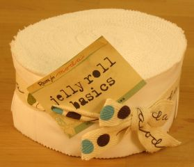Bella Solids White, Jelly Roll