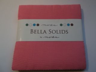 Bella Solids 30's Pink, Charm Pack