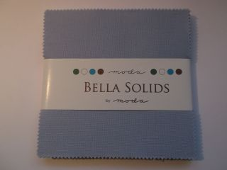 Bella Solids Baby Blue, Charm Pack