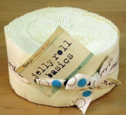Bella Solids Snow, Jelly Roll