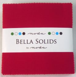 Bella Soilds Christmas Red, Charm Pack