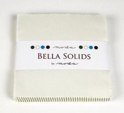 Bella Solids Porcelain, Charm Pack