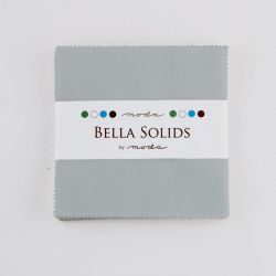 Bella Solids Steel, Charm Pack