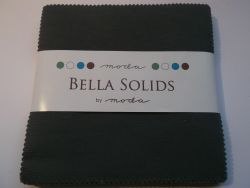 Bella Solids Lead, Charm Pack